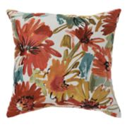 Blossom Buddies Woven Jacquard Throw Pillow