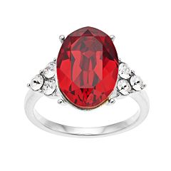 Brilliance Oval Ring with Swarovski Crystals