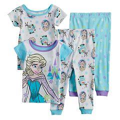 Disney's Frozen Elsa Baby Girl Tops & Bottoms Pajama Set