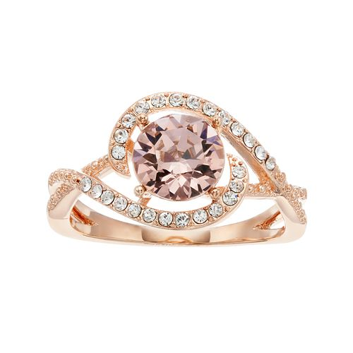 Brilliance Pave Swirl Ring with Swarovski Crystals
