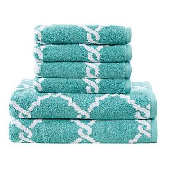 Madison Park Essentials 6-piece Diablo Yarn Dyed Jacquard Bath Towel Set