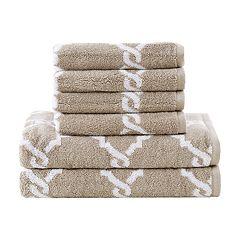 Madison Park Essentials 6-piece Diablo Yarn Dyed Jacquard Bath Towel Set