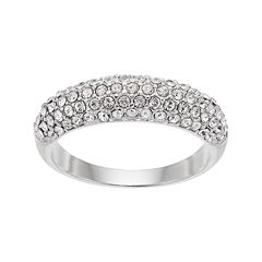 Brilliance Pave Dome Ring with Swarovski Crystals
