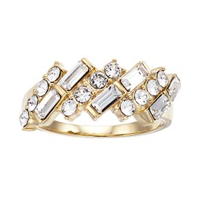 Brilliance Baguette Ring with Swarovski Crystals