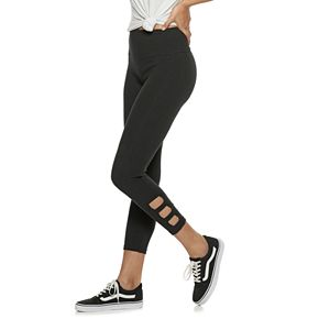 Juniors' SO® Side Cutout Ankle Leggings