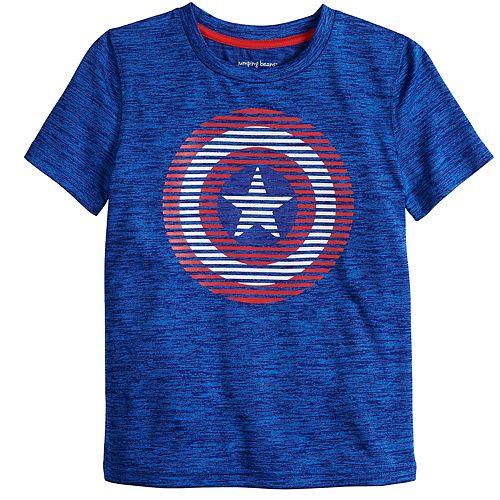 Boys 4-12 Jumping Beans® Marvel Captain America Logo Graphic Tee