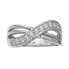 Primrose Sterling Silver Cubic Zirconia Wrap Ring