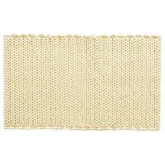 Madison Park Signature Copula Yarn Dyed Cotton Chenille Chain Stitch Rug
