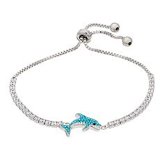 Crystal Dolphin Adjustable Bracelet