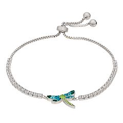 Crystal Dragonfly Adjustable Bracelet