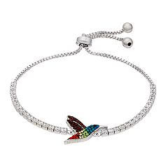Crystal Rainbow Hummingbird Adjustable Bracelet