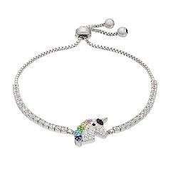 Crystal Unicorn Head Adjustable Bracelet