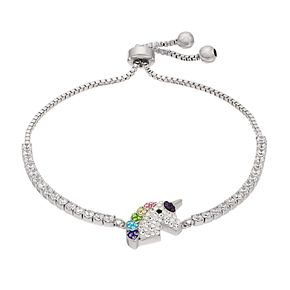 Crystal Unicorn Head Adjustable Bracelet