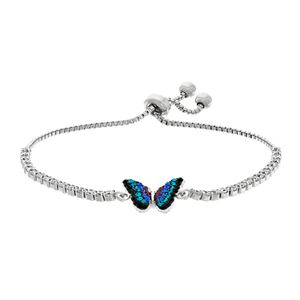 Crystal Butterfly Lariat Bracelet