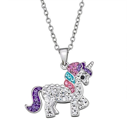 Crystal Unicorn Pendant Necklace