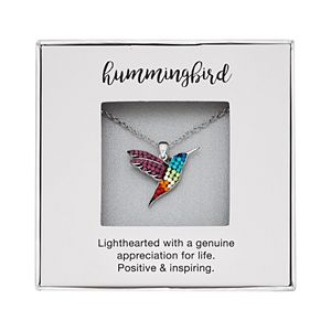 Crystal Hummingbird Pendant Necklace