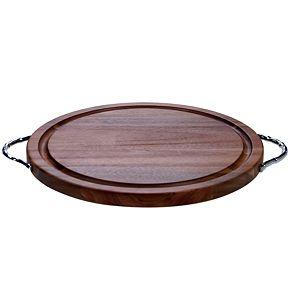 Certified International Acacia Wood Round Cutting Board