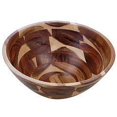 Certified International Acacia Wood Large Serving Bowl