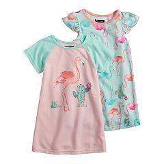 bf412457b50a Toddler Girl Cuddl Duds 2-pack Flamingo Dorm Nightgowns