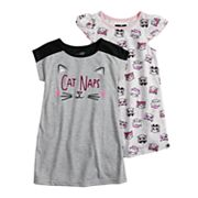 Toddler Girl Cuddl Duds 2-pack Kitty Cat Naps Dorm Nightgowns
