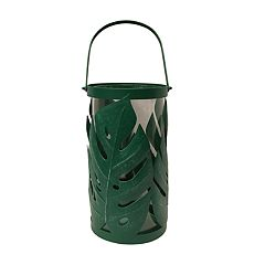 NEW! SONOMA Goods for Life™ Tropical Leaf Large Hurricane Candle Holder