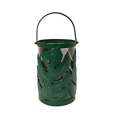 NEW! SONOMA Goods for Life™ Tropical Leaf Small Hurricane Candle Holder