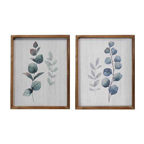Stratton Home Decor Botanical Framed Wall Art 2-piece Set