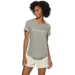 Women's SONOMA Goods for Life™ Sleep Tee & Pajama Shorts Set