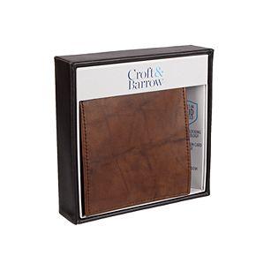 Men's Croft & Barrow® RFID-Blocking Extra-Capacity Hipster Wallet