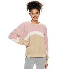 6b9f5b1b81b9 Overall Dress. Juniors' Cloud Chaser Chevron Stripe Long Sleeve Pullover  Sweatshirt