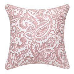 Pink Paisley Decorative Throw Pillow