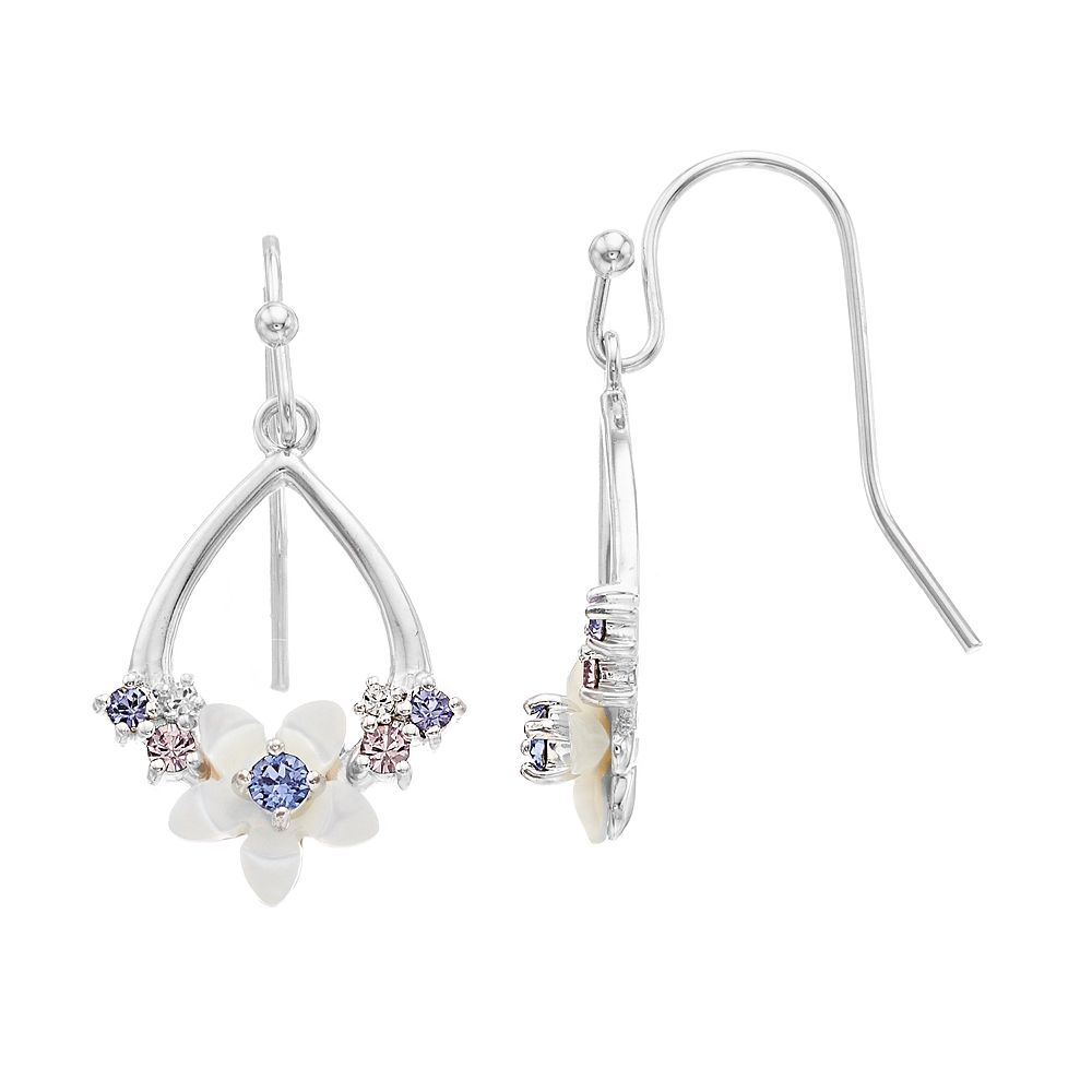 Brilliance Floral Teardrop Earrings with Swarovski Crystals
