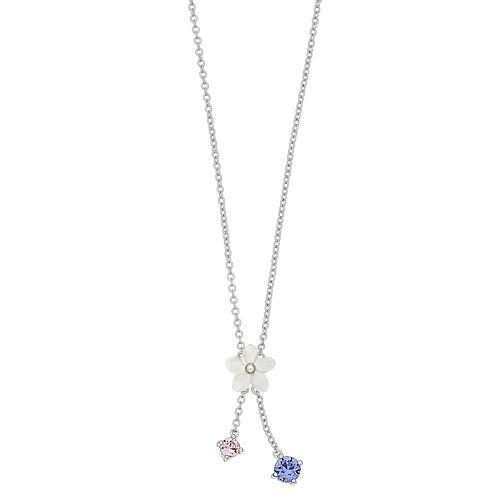 Brilliance Flower Accent Lariat Necklace with Swarovski Crystals