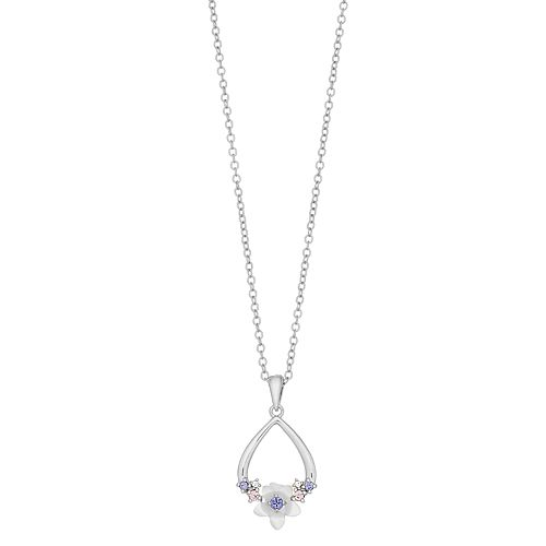 Brilliance Open Teardrop Pendant Necklace with Swarovski Crystals