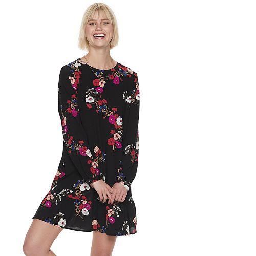 Women's POPSUGAR Flounce-Hem Mini Dress