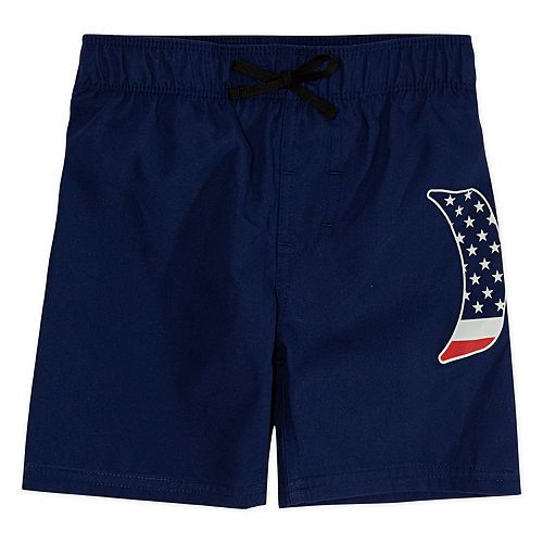 Toddler Boy Hurley Americana Pull On Swim Trunks
