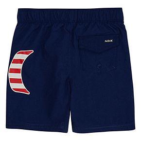 Toddler Boy Hurley Americana Pull On Swim Trunks