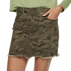 Juniors' Mudd® Camo Twill Skirt