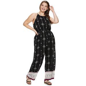 085efe48fd51 Sale.  32.99. Original.  48.00. Juniors  Plus Size Mudd® High Neck  Patterned Jumpsuit