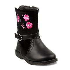 Laura Ashley Girls' Floral Embroidered Boots