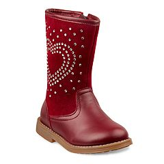 Laura Ashley Girls' Embellished Heart Boots