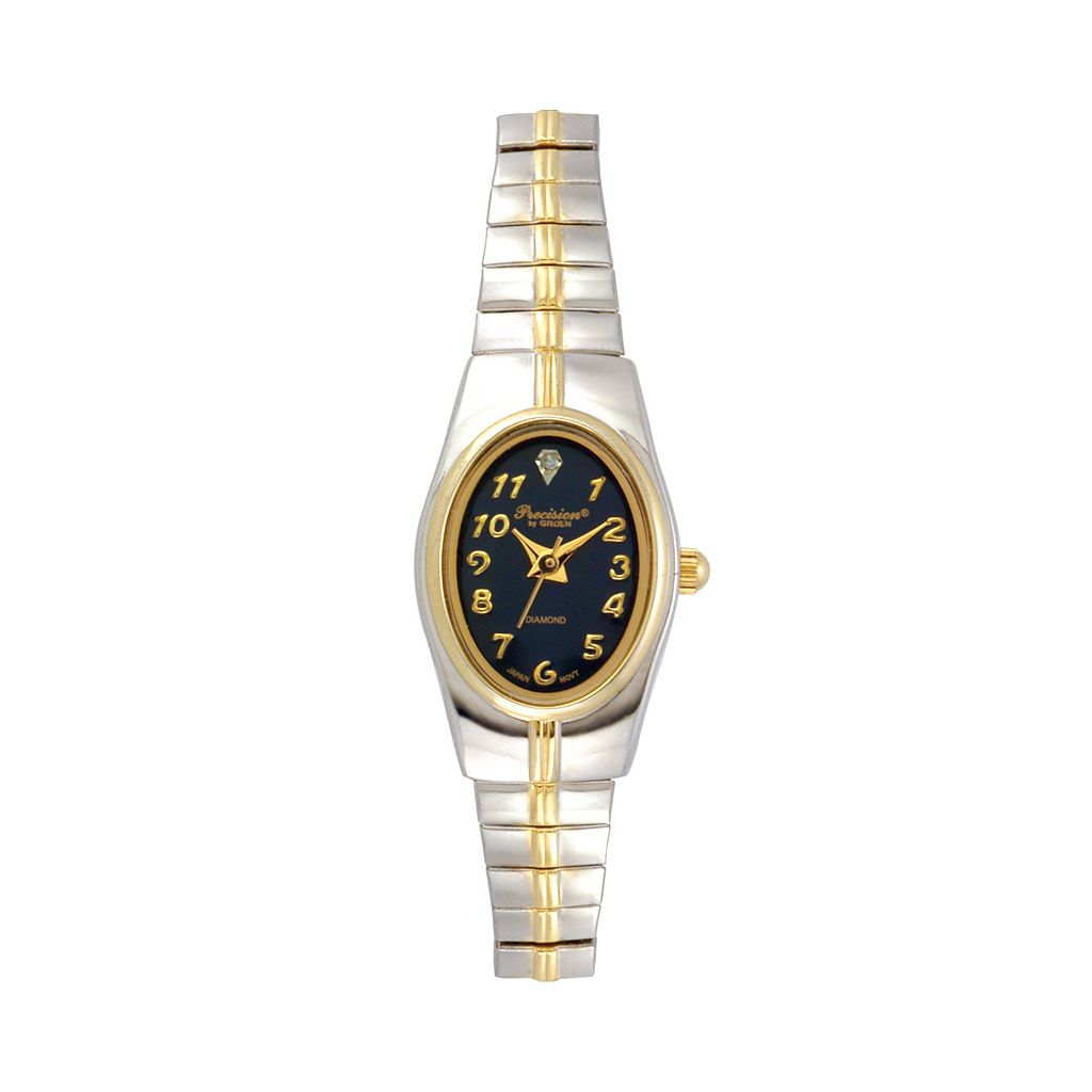 Precision by Gruen Women's Diamond Two Tone Watch