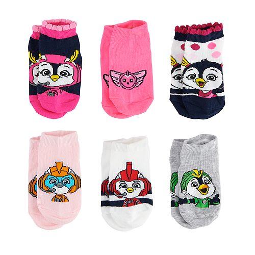 Toddler Girl Top Wing 6-pack Low-Cut Socks