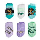 Disney Princess Jasmine Toddler Girl 6-pack Low-Cut Socks