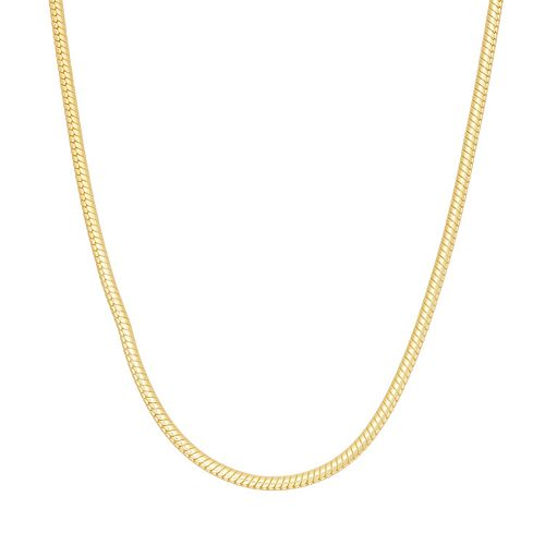 Women's 14k Gold Over Silver Snake Chain Necklace