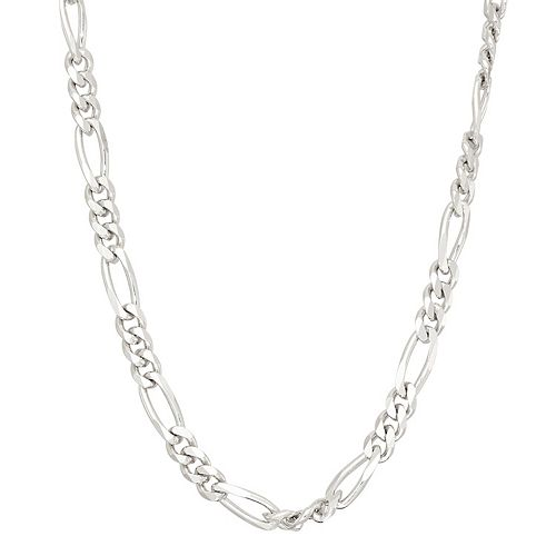 Men's 14k Gold Over Silver Figaro Chain Necklace