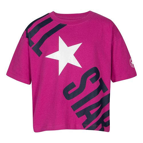 "Girls 7-16 Converse ""All-Star"" Boxy Tee"