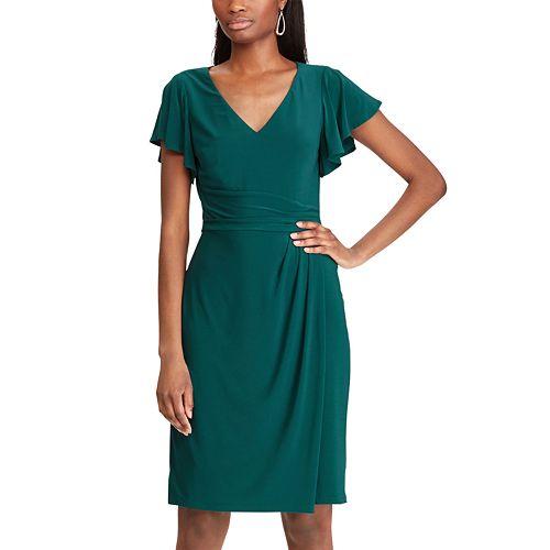 Women's Chaps Flutter Sleeve V-Neck Dress