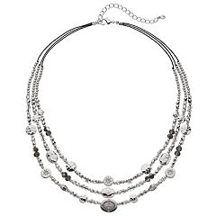 SONOMA Goods for Life™ Mixed Beads & Castings Layered Necklace
