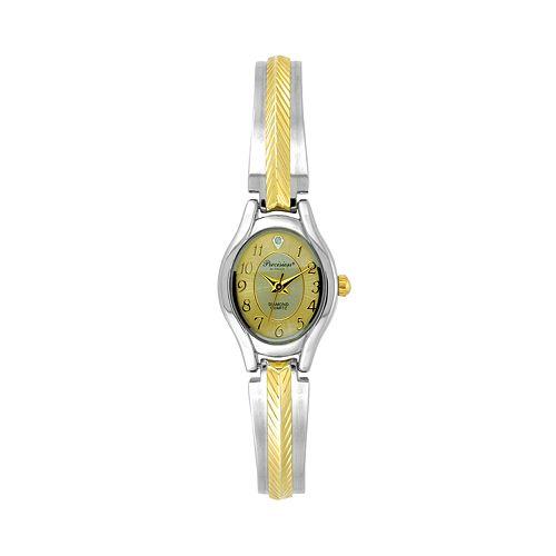 Precision by Gruen Women's Diamond Two Tone Watch